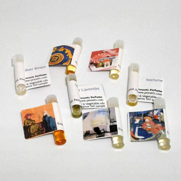A Sample Pack of 6 Permanent Possets Perfume Oil